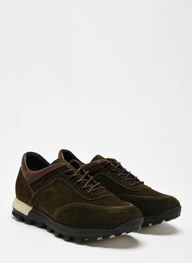 D by Divarese Deri Sneakers Haki